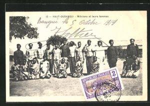 AK Haut-Oubangui, Miliciens et leurs femmes