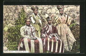 AK Dominica, Native Dress, Frauen in Tracht