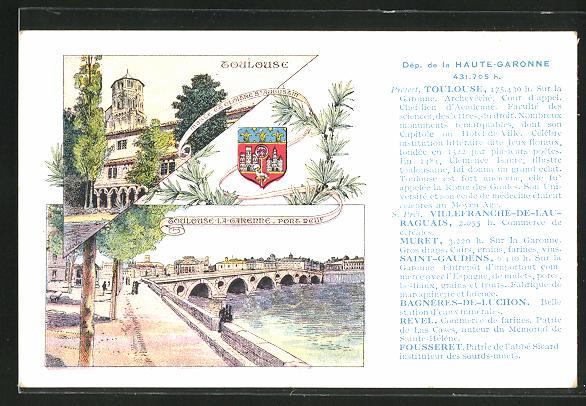 AK Toulouse, Musee de Cloitre St. Augustine, Pont-Neuf
