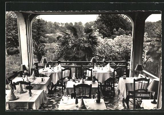 AK Borbotan-les-Thermes, Hotel du Roy Henri, la veranda, vue sur le jardin