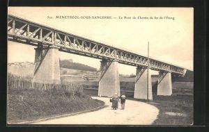 AK Menetreol-sous-Sancerre, Le Pont du Chemin de fer de l`Etang