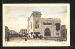 AK Sfax, Théâtre et Prolongement de la Rue de la République