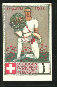 Künstler-AK Basel, 56. Eidgen. Turnfest 191219