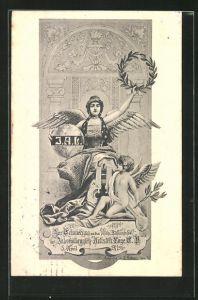 AK Zur Erinnerung an das 10 jähr. Stiftungsfest der Intern. Artisten-Loge E.V. 1911