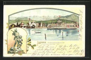 Präge-AK Luzern, Eidg. Schützenfest 1901, Festhütte und Bahnhof