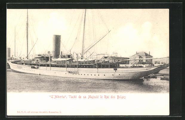 AK Belgien, L`Alberta, Yacht de sa Majeste le roi des Belges