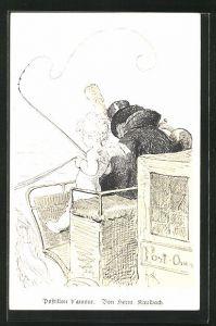 Künstler-AK Hermann Kaulbach: Postillon d`amour