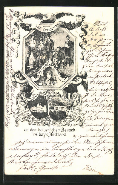 AK Kaiserin Auguste Victoria Königin von Preussen, Sängerschloss Tegernsee, Berchtesgaden