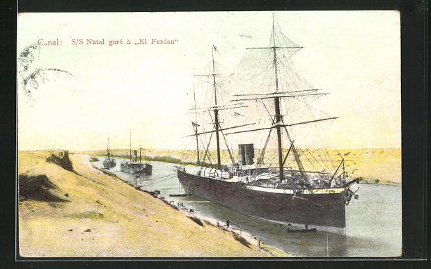 AK Segelschiff S. S. Natal gare a El Ferdau