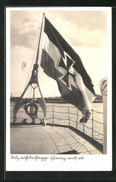 AK Kriegsmarine, Deutsche Flagge