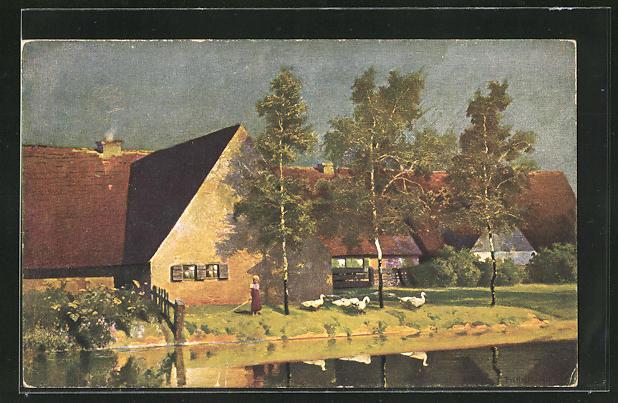 Künstler-AK G. Hirth`s Verlag, Serie III, 6: Der letzte Sonnengruss