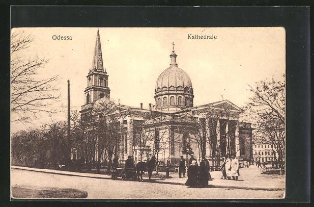 AK Odessa, Blick zur Kathedrale