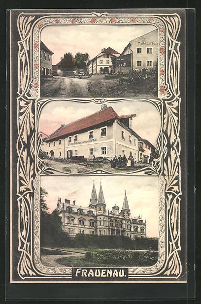 AK Frauenau, Gasthaus Fritz Eibsch, Schloss