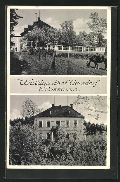 AK Gersdorf, Ansichten vom Waldgasthof Gersdorf