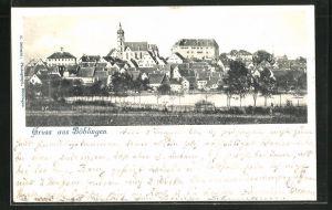 AK Böblingen, Panorama des Ortes
