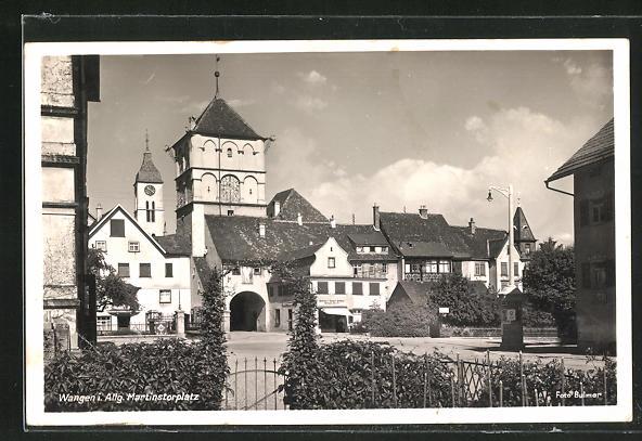 AK Wangen i. Allg., Martinstorplatz mit Kirche