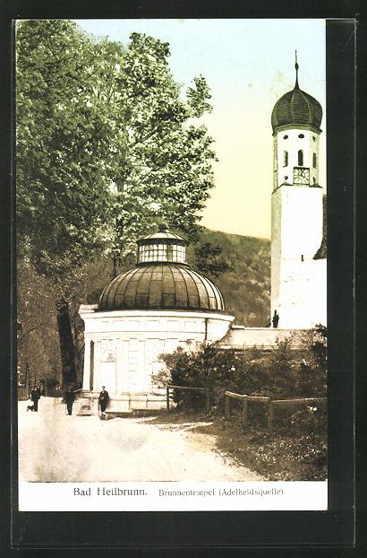 AK Bad Heilbrunn, Brunnentempel - Adelheidsquelle