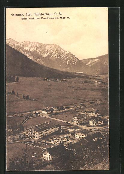 AK Hammer O.B., Ortsansicht mit Blick nach der Brecherspitze