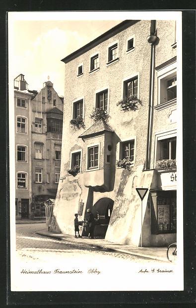 AK Traunstein in Obby., Partie am Heimathaus