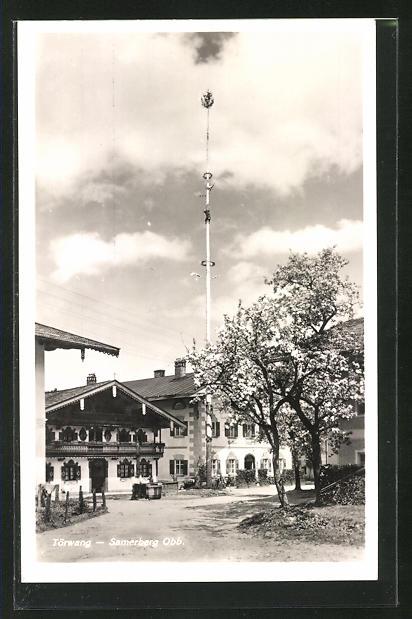 AK Törwang-Samerberg, Strassenpartie mit Gasthaus