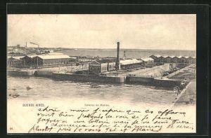 AK Buenos Aires, Talleres de Marina, Anlagen im Hafen