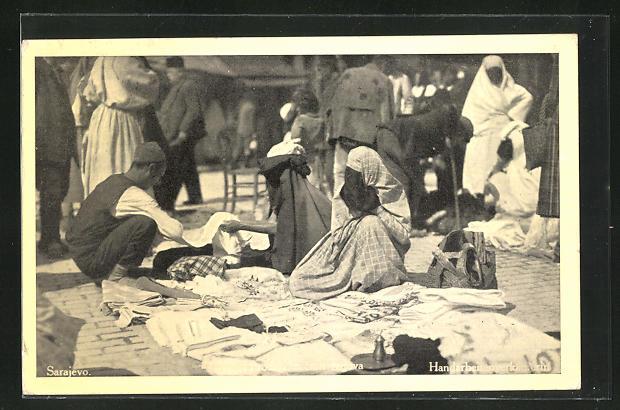 AK Sarajevo, Händler auf dem Markt