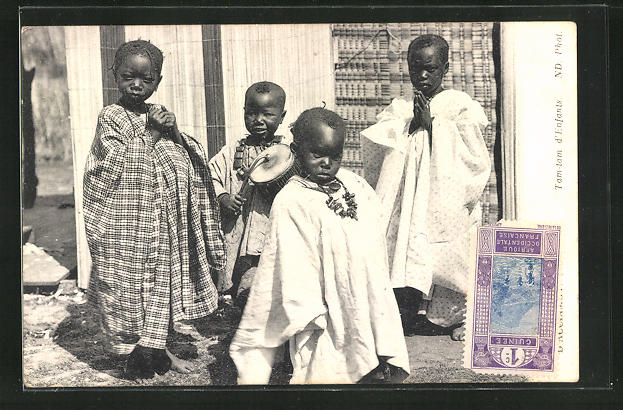 AK Afrique, Tam-tam d`Enfants, afrikanische junge Musiker