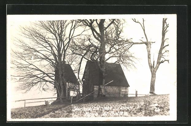 Foto-AK Grub, zerstörtes Haus nach Sturmkatatrophe 5. Januar 1919