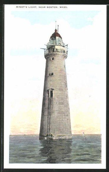 AK Boston, Mass., Minot`s Light, Leuchtturm