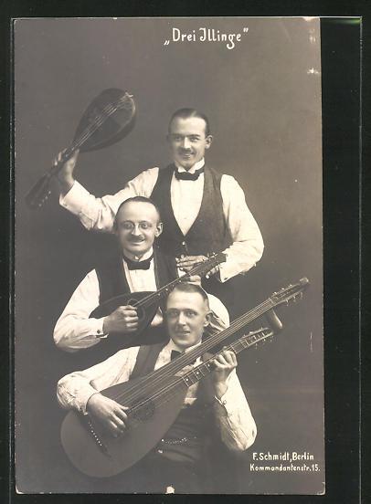 AK Drei Illinge, Drei Musiker mit Lauten