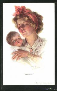 Künstler-AK Philip Boileau: Baby mine, Junge Mutter mit Baby