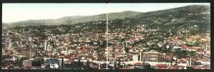 Klapp-AK Sarajewo, Blick über die Dächer der Stadt