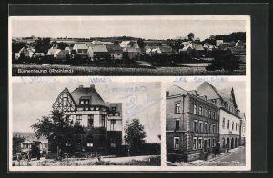 AK Büchenbeuren / Rheinland, Gasthaus und Festhalle Gustav Gass, Postamt
