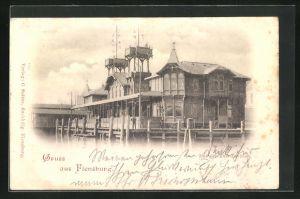 AK Flensburg, Dampfschiffs-Pavillon
