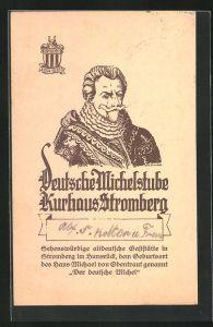 Künstler-AK Dr. Hildner: Stromberg im Hunsrück, Deutsche Michelstube, Kurhaus Stromberg