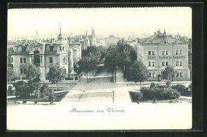 AK Weimar, Strassenpartie am Hotel Kaiserin Augusta