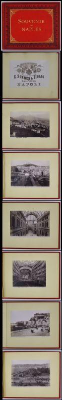 Fotoalbum Neapel, Giorgio Sommer & Figlio, 13 Fotografien Napoli, Stoff-Einband mit 26 Seiten