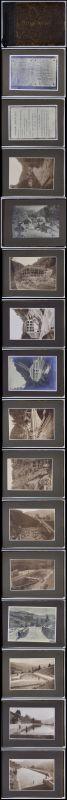 Fotoalbum 29 Fotografien Arriacher-Werk der E-Werke Villach, Ansicht Villach, Halbleder-Einband mit 26 Seiten