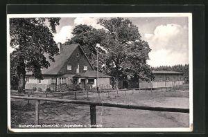 AK Büchenbeuren / Hunsrück, Jugendheim und Turnhalle