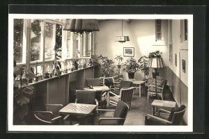 AK Neu-Fahrland, Wintergarten im Sanatorium Heinrich Heine