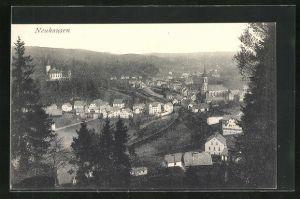 AK Neuhausen, Panoramablick vom Berg gesehen