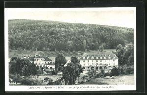 AK Bad Orb i. Spessart, Sanatorium Küppelsmühle u. Annenhof
