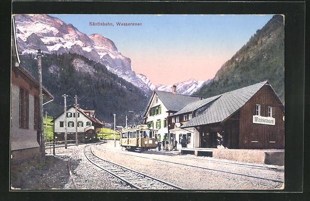 AK Wasserauen, Säntisbahn mit Bergen