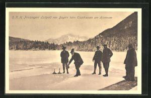 AK Prinzregent Luitpold von Bayern beim Eisschiessen am Hintersee, Curling
