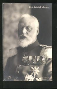AK König Ludwig III., in Uniform mit Orden