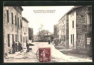AK St-Maurice-en-Gourgois, un morceau de la Grande Rue
