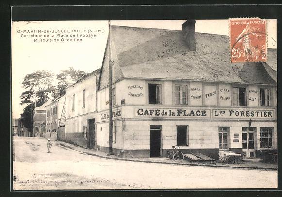 AK St-Martin-de-Boscherville, Carrefour de la Place de l'Abbaye et Route de Quevillon