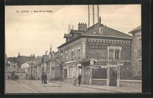 AK Juvisy, Rue de la Poste, Strassenpartie