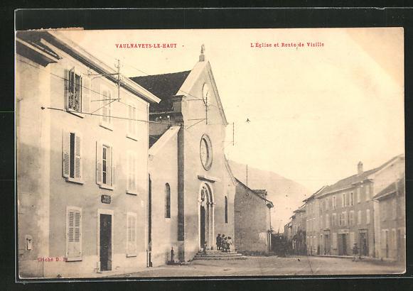 AK Vaulnaveys-le-Haut, L`Eglise et Route de Vizille