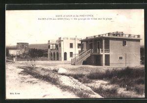 AK Saint-Cyr sur-Mer, Un groupe de villas sur la plage